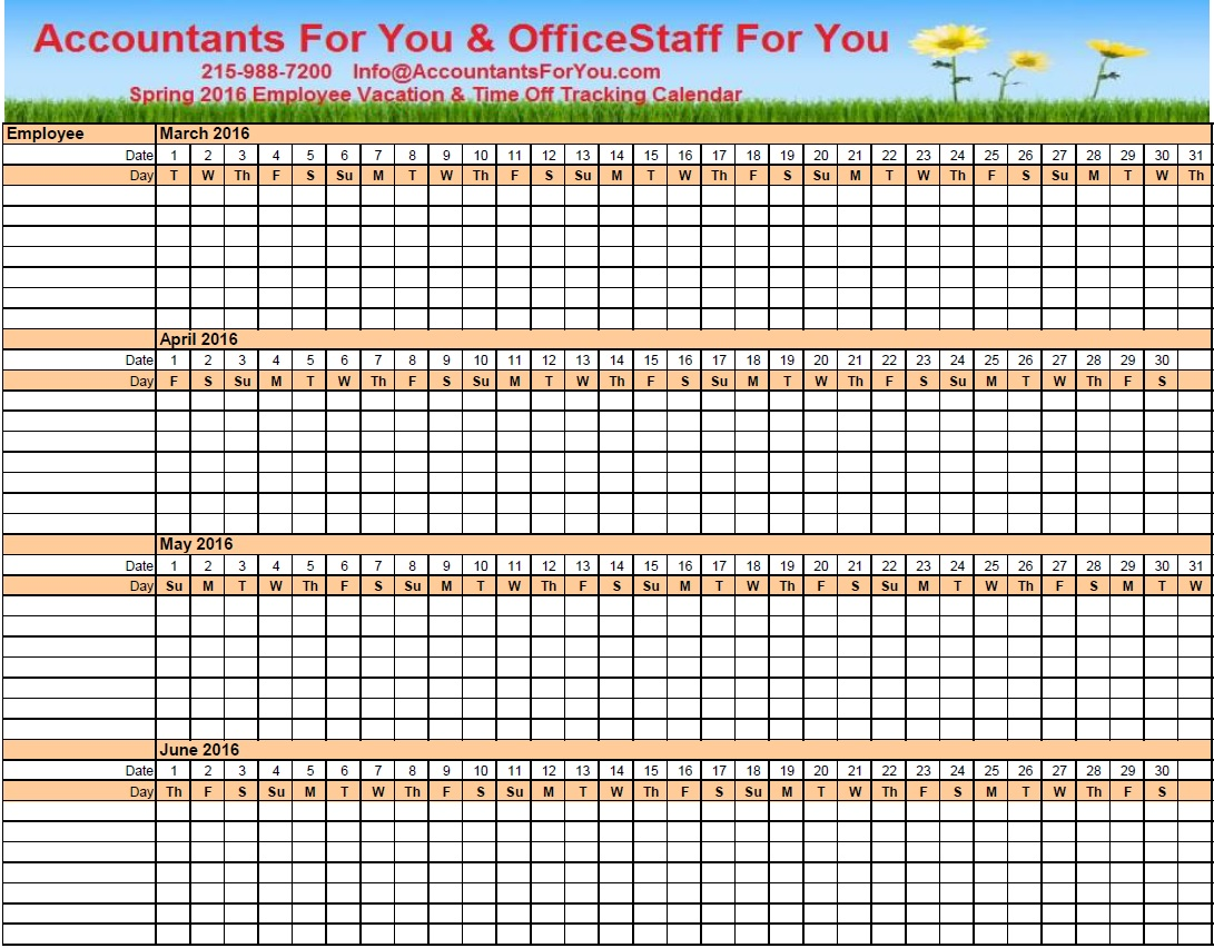 2016 Pto Calendar Excel Free Calendar Template 2016 Pictures to pin on ...